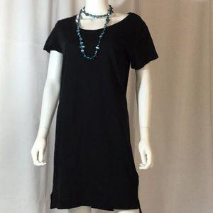 NWOT Black Alternative Tee Dress w/ Side slits